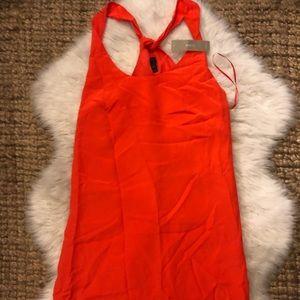 J. Crew 0P NWT twist-back silk dress